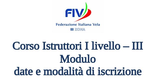 III Modulo Corso Istruttori I Livello, in programma dal 24 al 29 ottobre 2017