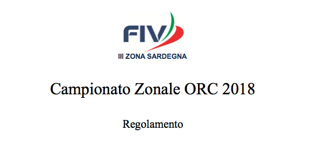 Campionato Zonale ORC 2018 – Regolamento