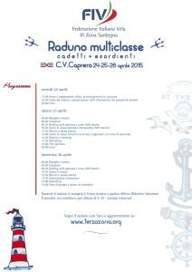 RADUNO MULTICLASSE CADETTI 2015