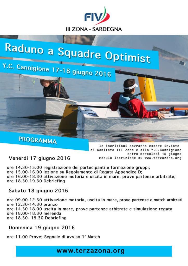 Locandina Raduno a Squadre Optimist